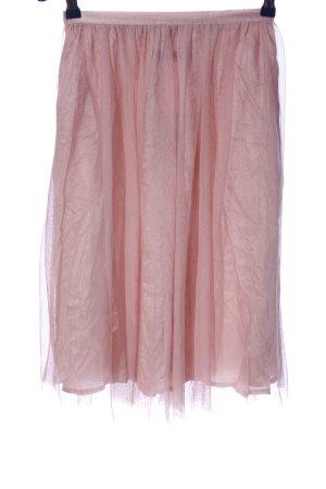 Zara Basic Spódnica midi różowy W stylu casual