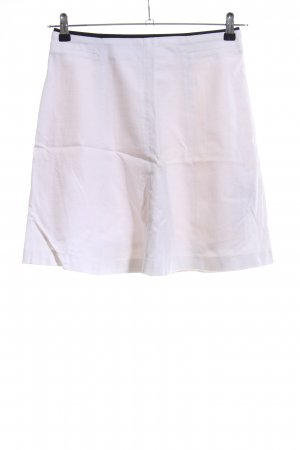 Zara Basic Spódnica midi biały W stylu casual