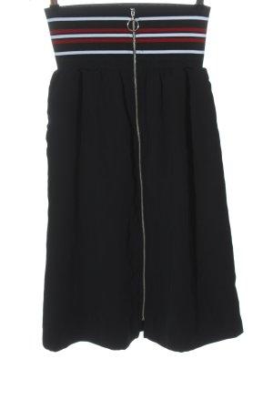 Zara Basic Spódnica midi Wzór w paski W stylu casual