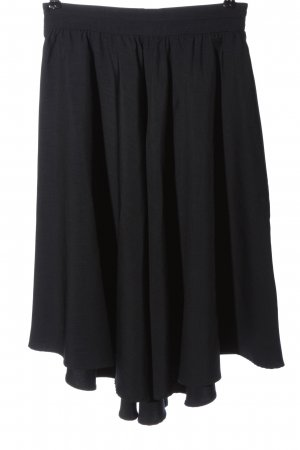 Zara Basic Spódnica midi czarny W stylu casual