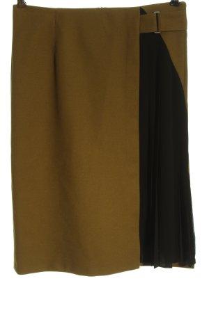 Zara Basic Spódnica midi khaki-czarny W stylu biznesowym
