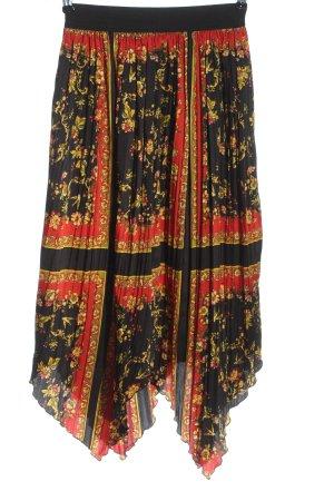 Zara Basic Spódnica midi Na całej powierzchni W stylu casual