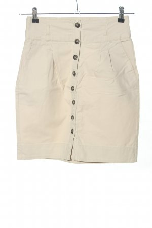 Zara Basic High Waist Skirt natural white casual look
