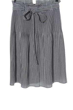 Zara Basic Spódnica midi czarny-biały Na całej powierzchni W stylu casual