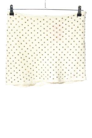 Zara Basic Spódnica midi biały Pikowany wzór W stylu casual