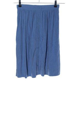 Zara Basic Spódnica midi niebieski W stylu casual