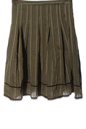 Zara Basic Spódnica midi brązowy-w kolorze białej wełny W stylu casual