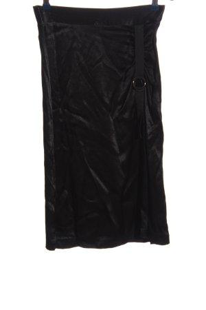 Zara Basic Spódnica midi czarny W stylu biznesowym
