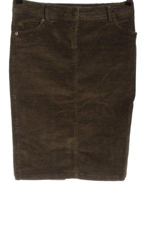 Zara Basic Spódnica midi brązowy W stylu casual
