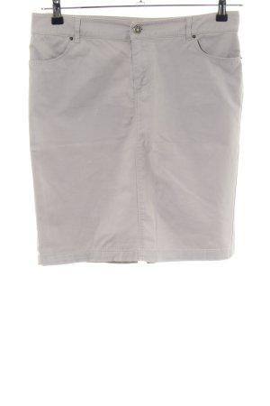 Zara Basic Spódnica midi jasnoszary W stylu biznesowym