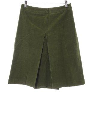 Zara Basic Spódnica midi khaki W stylu casual