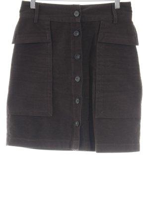 Zara Basic Spódnica midi czarno-brązowy W stylu casual