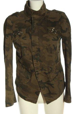 Zara Basic Militair jack camouflageprint casual uitstraling
