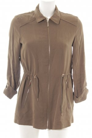 Zara Basic Military Jacket brown casual look