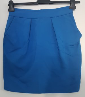 Zara Basic Mini Rock, royalblau, Größe S, Businesslook, casual