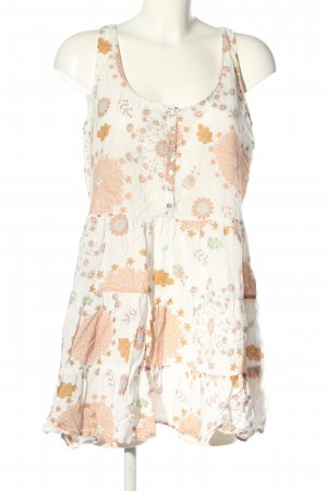 Zara Basic Minikleid weiß-nude Allover-Druck Casual-Look
