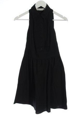 Zara Basic Blusenkleid schwarz Business-Look