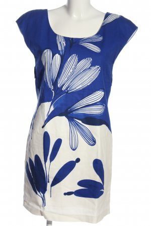 Zara Basic Minikleid blau-weiß Allover-Druck Casual-Look