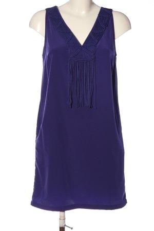 Zara Basic Minikleid lila Casual-Look
