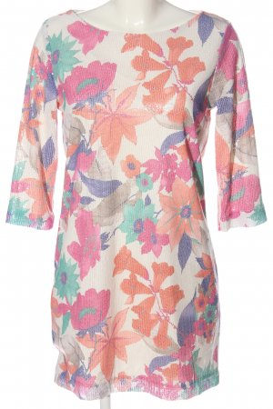 Zara Basic Minikleid Allover-Druck Casual-Look