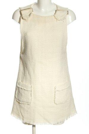 Zara Basic Minikleid creme Business-Look