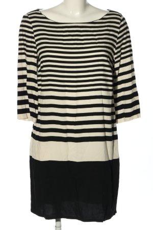 Zara Basic Minikleid weiß-schwarz Streifenmuster Casual-Look