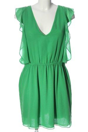 Zara Basic Minikleid grün Casual-Look