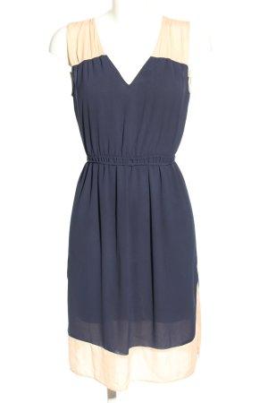 Zara Basic Minikleid blau-creme Casual-Look