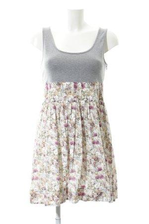 Zara Basic Minikleid Blumenmuster