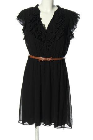 Zara Basic Minikleid schwarz-braun Elegant