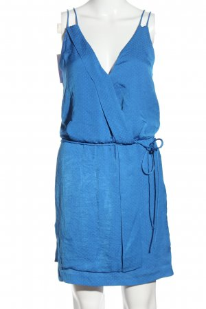 Zara Basic Blusenkleid blau Allover-Druck Casual-Look