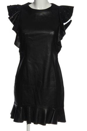 Zara Basic Minikleid schwarz extravaganter Stil