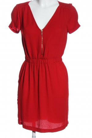 Zara Basic Sukienka mini czerwony W stylu casual