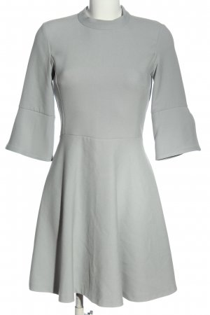 Zara Basic Minikleid hellgrau Casual-Look