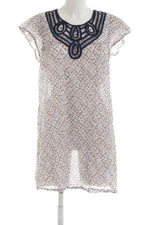 Zara Basic Minikleid Punktemuster Beach-Look