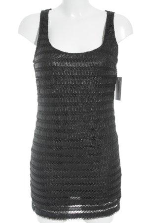 Zara Basic Minikleid schwarz Glanz-Optik