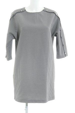 Zara Basic Minikleid schwarz-weiß Elegant
