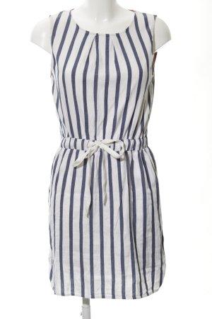 Zara Basic Minikleid weiß-dunkelblau Streifenmuster Beach-Look