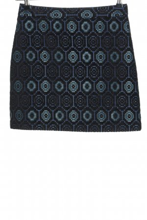 Zara Basic Minirock schwarz-blau Allover-Druck Casual-Look