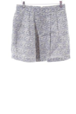 Zara Basic Minirock hellgrau Allover-Druck Casual-Look