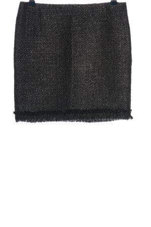 Zara Basic Minirock schwarz meliert Casual-Look