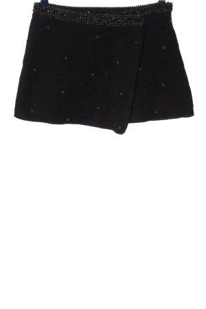 Zara Basic Minirock schwarz Punktemuster Casual-Look