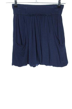 Zara Basic Minirock blau Casual-Look