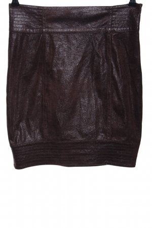 Zara Basic Minirock braun meliert Glanz-Optik