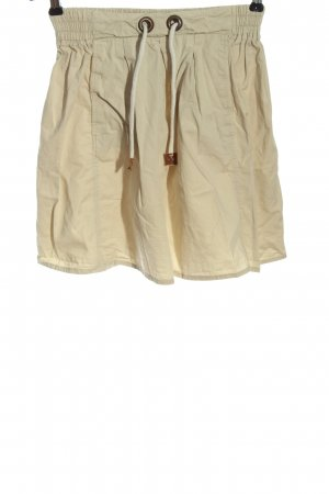 Zara Basic Minirock creme Casual-Look