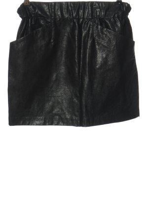 Zara Basic Minirock schwarz Casual-Look