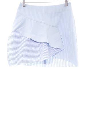 Zara Basic Minirock blau-weiß Allover-Druck Casual-Look