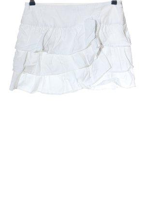 Zara Basic Minirock weiß Casual-Look