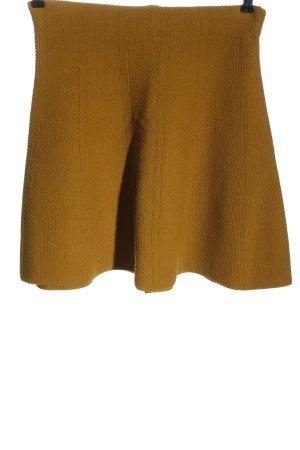 Zara Basic Mini-jupe orange clair imprimé allover style décontracté