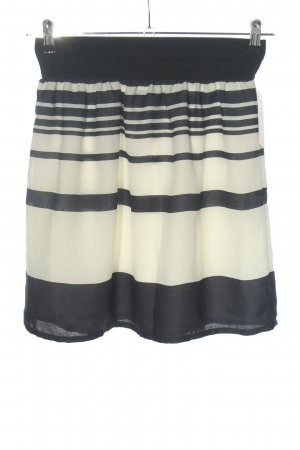 Zara Basic Minirock schwarz-wollweiß Casual-Look